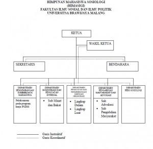 Struktur Organisasi Himpunan Mahasiswa Sosiologi
