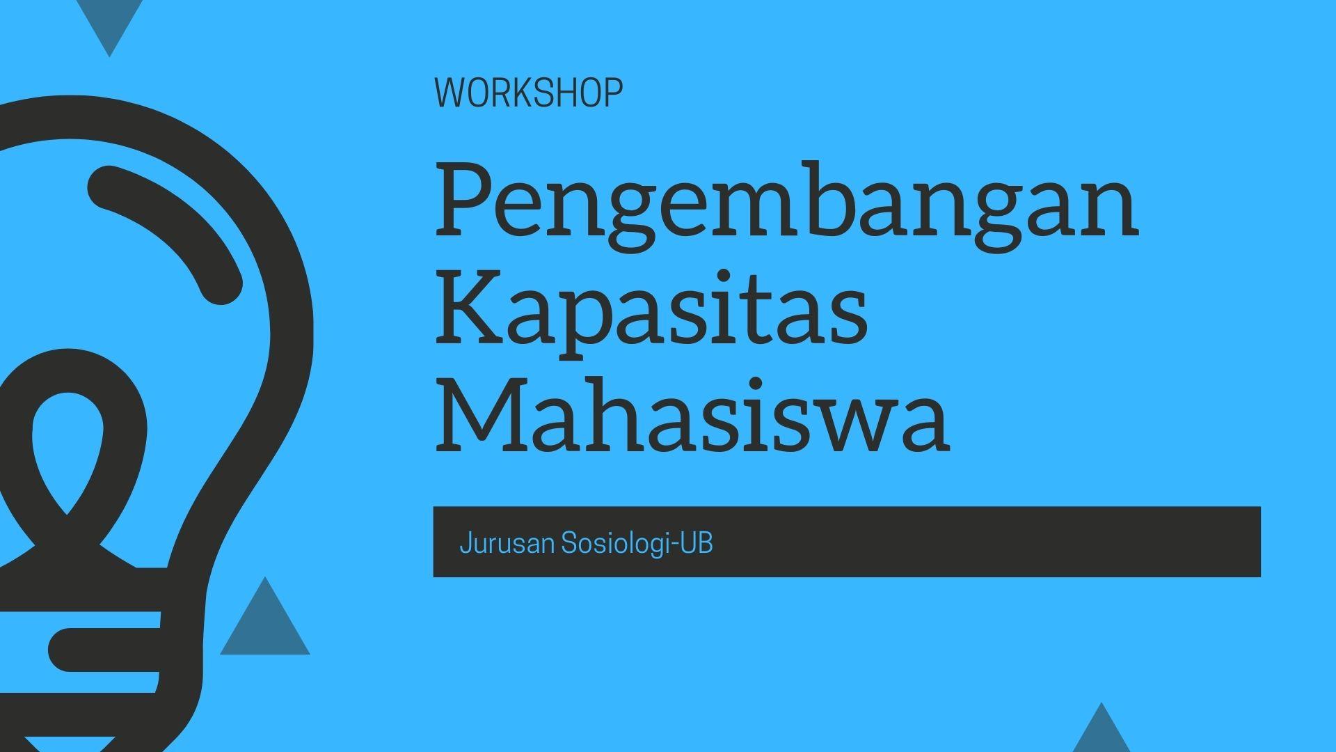 [Announcement] Student Capacity Building Workshop