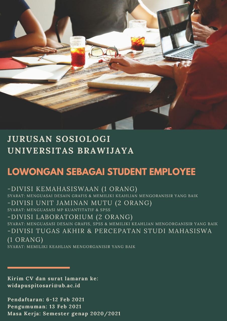 Lowongan Student Employee 2021